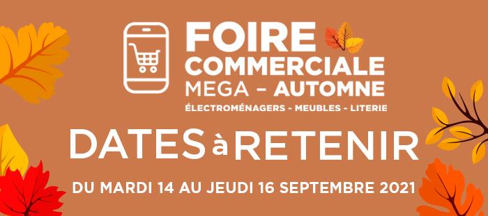 Foire commerciale d'automne de Mega – 14-16 septembre 2021